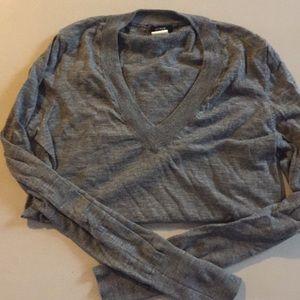 J crew women's wool sweater gray med